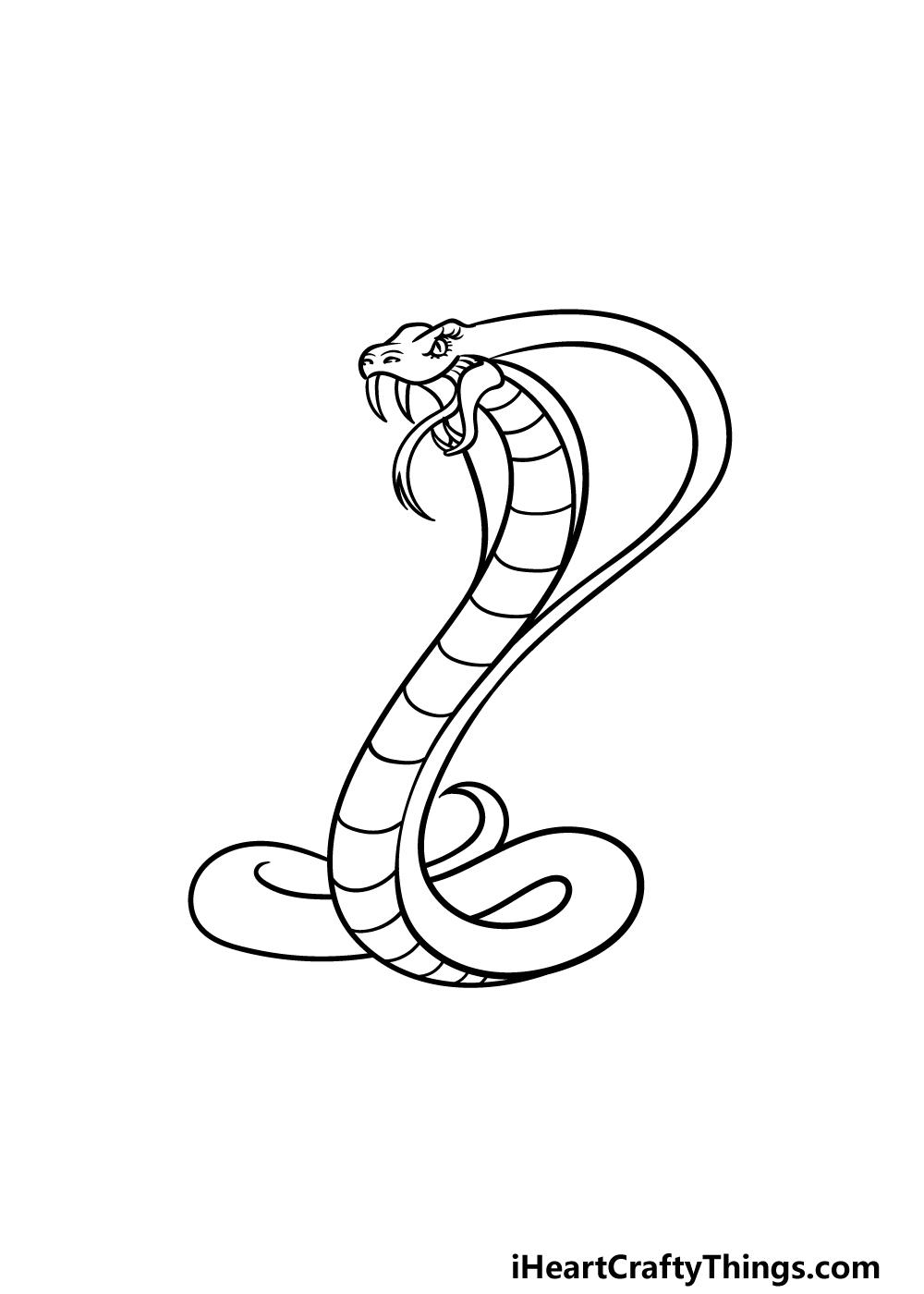 drawing cobra step 3