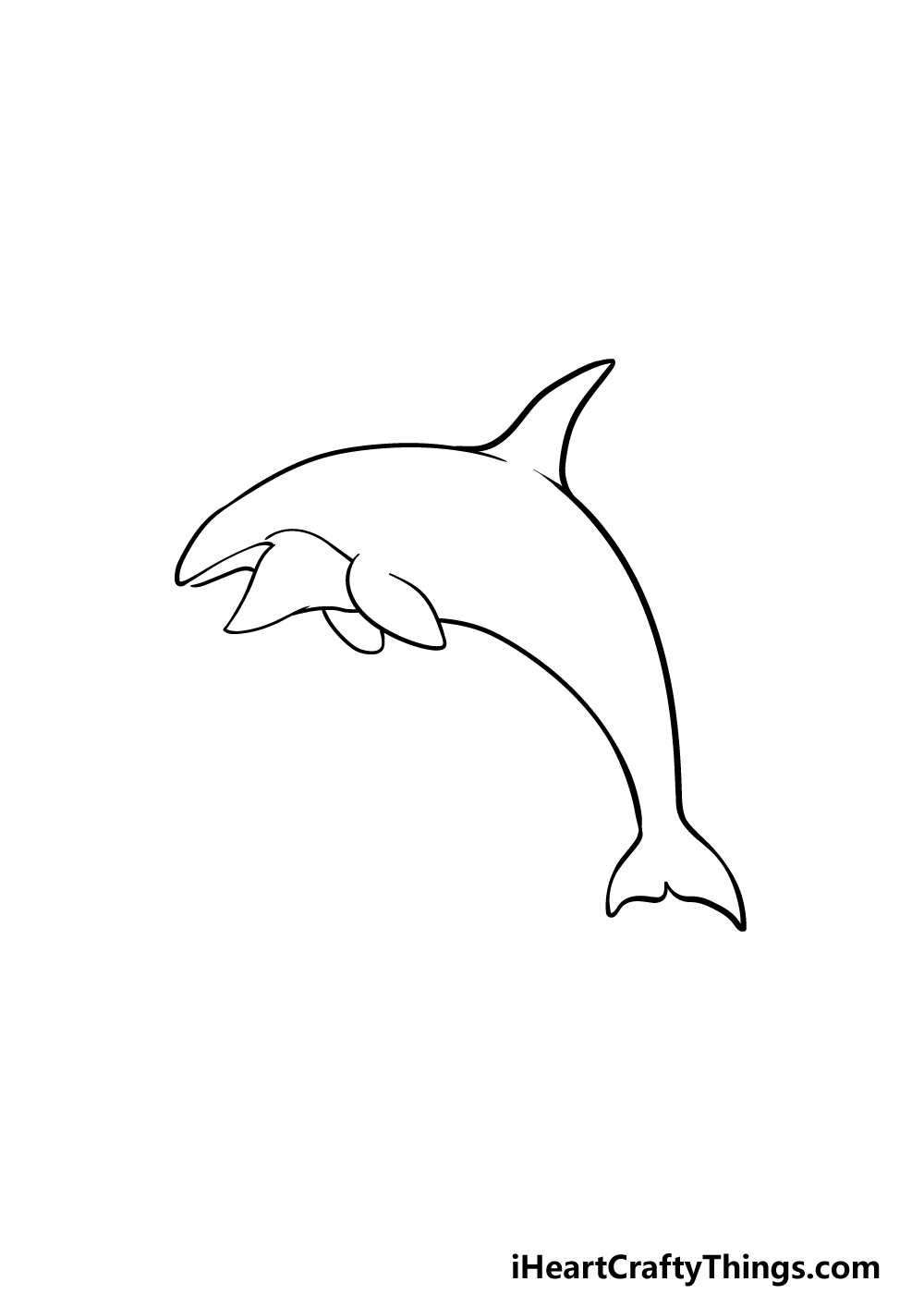 drawing an orca step 3