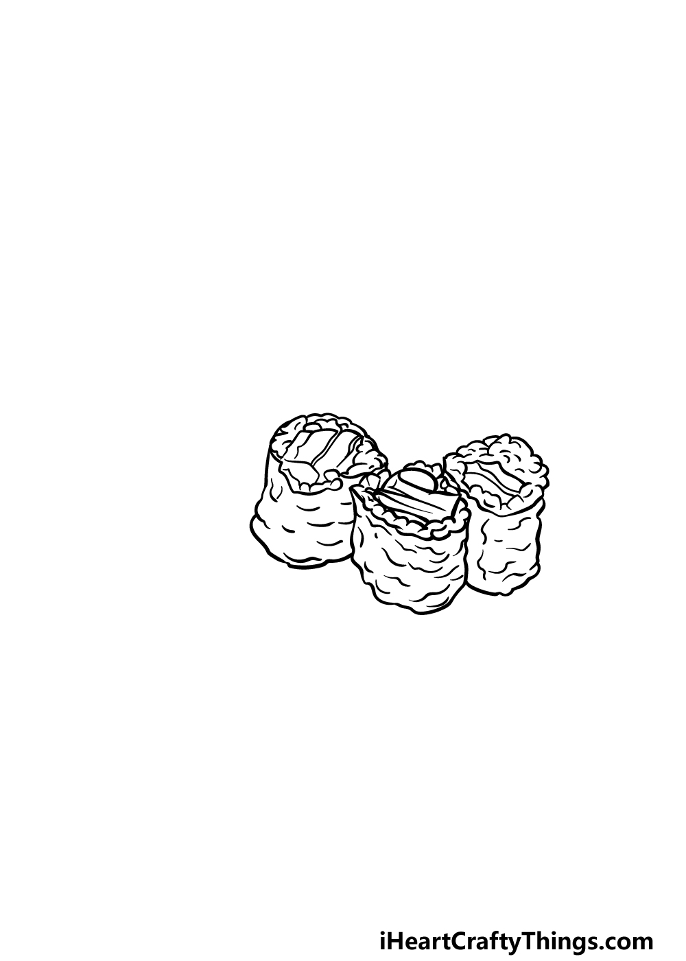 drawing sushi step 3