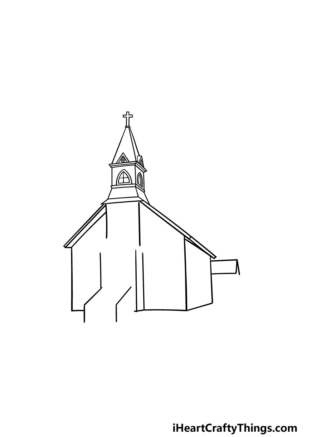 drawing a church step 3