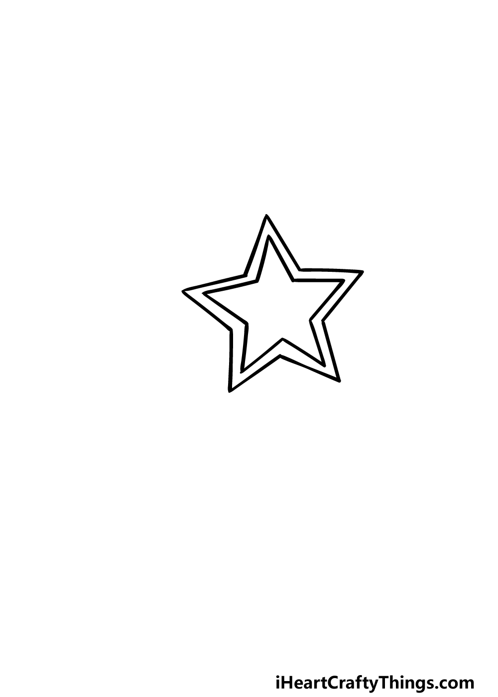drawing a Shooting Star step 3