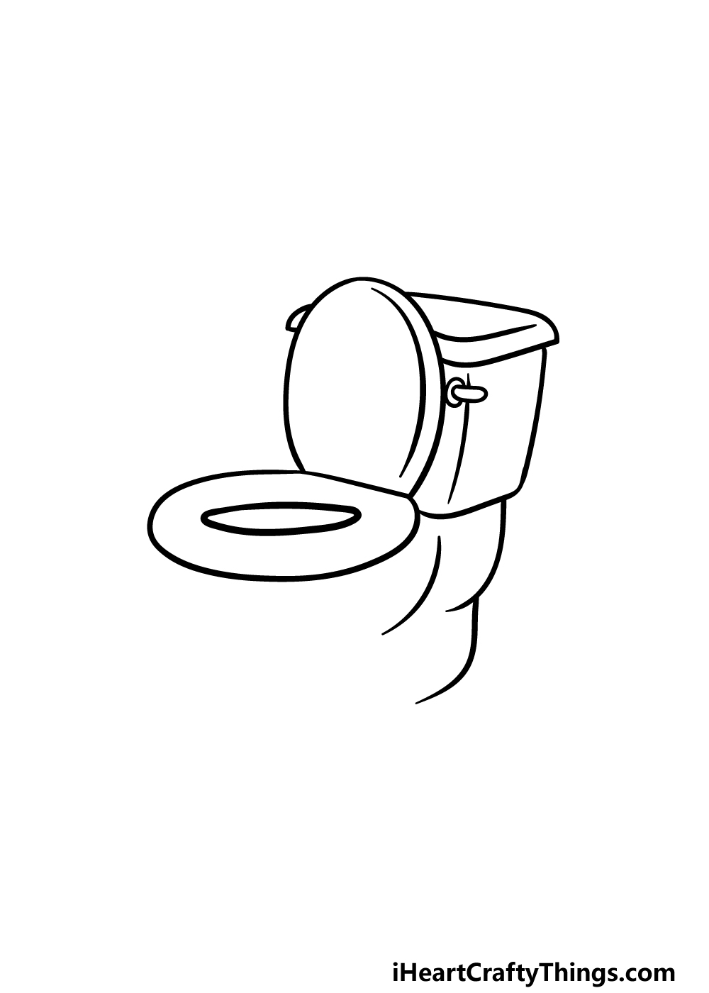 drawing a toilet step 2