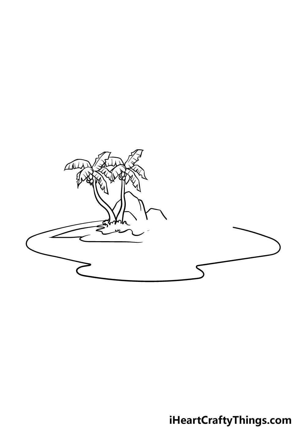 drawing an island step 3