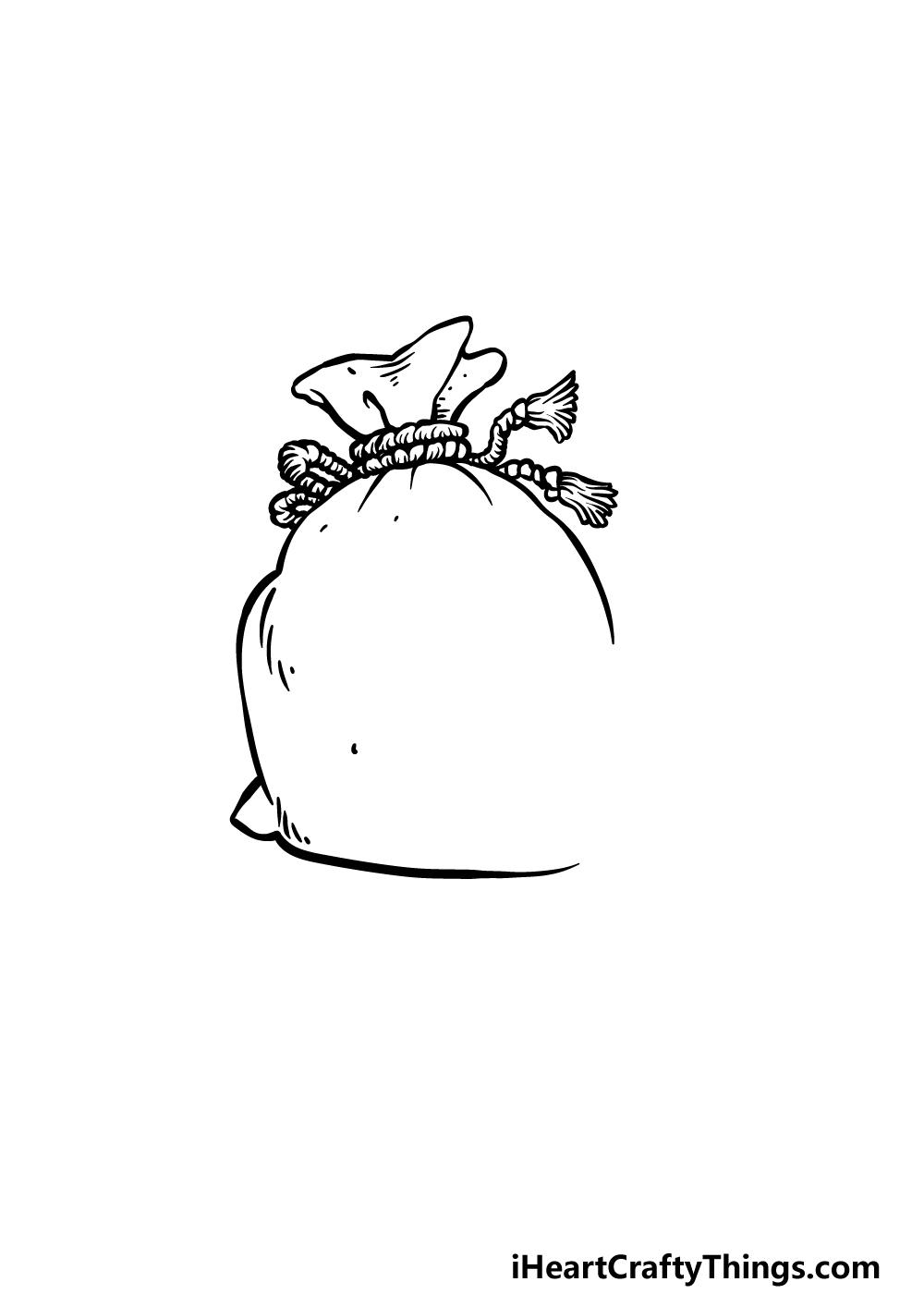 drawing a money bag step 3