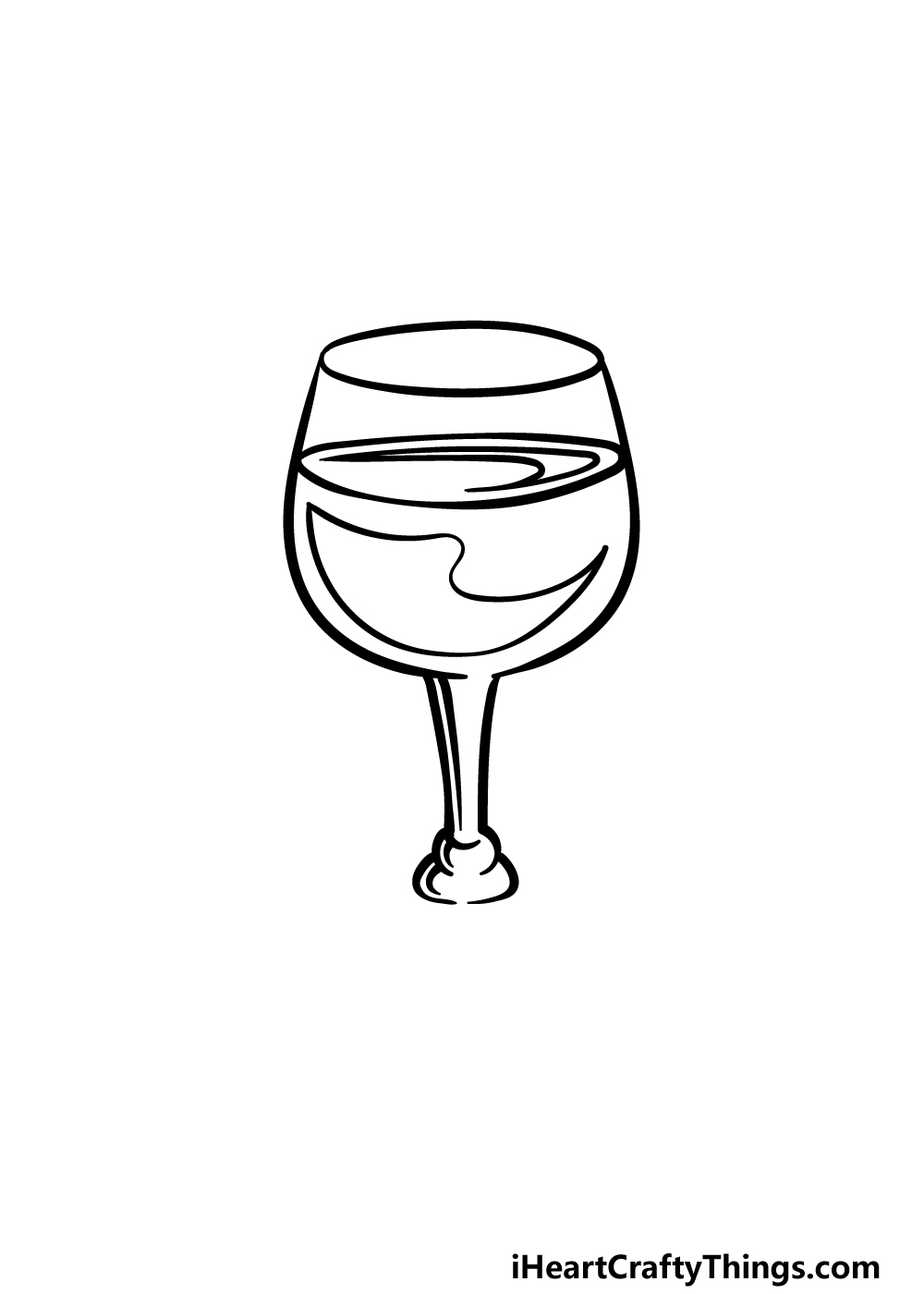 drawing a wine glass step 3