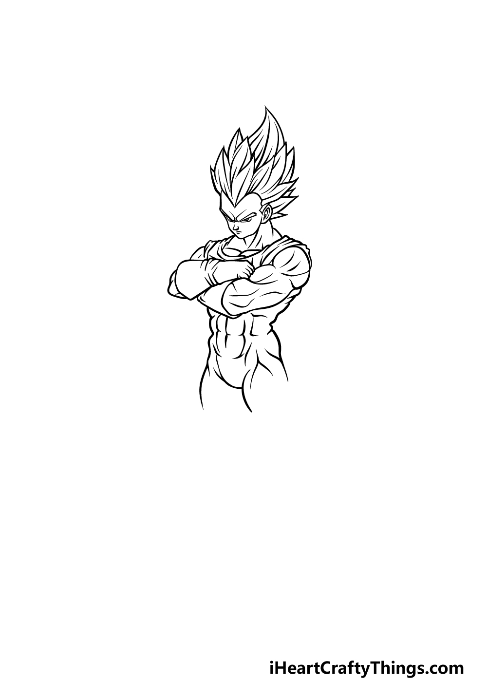 drawing Vegeta step 3
