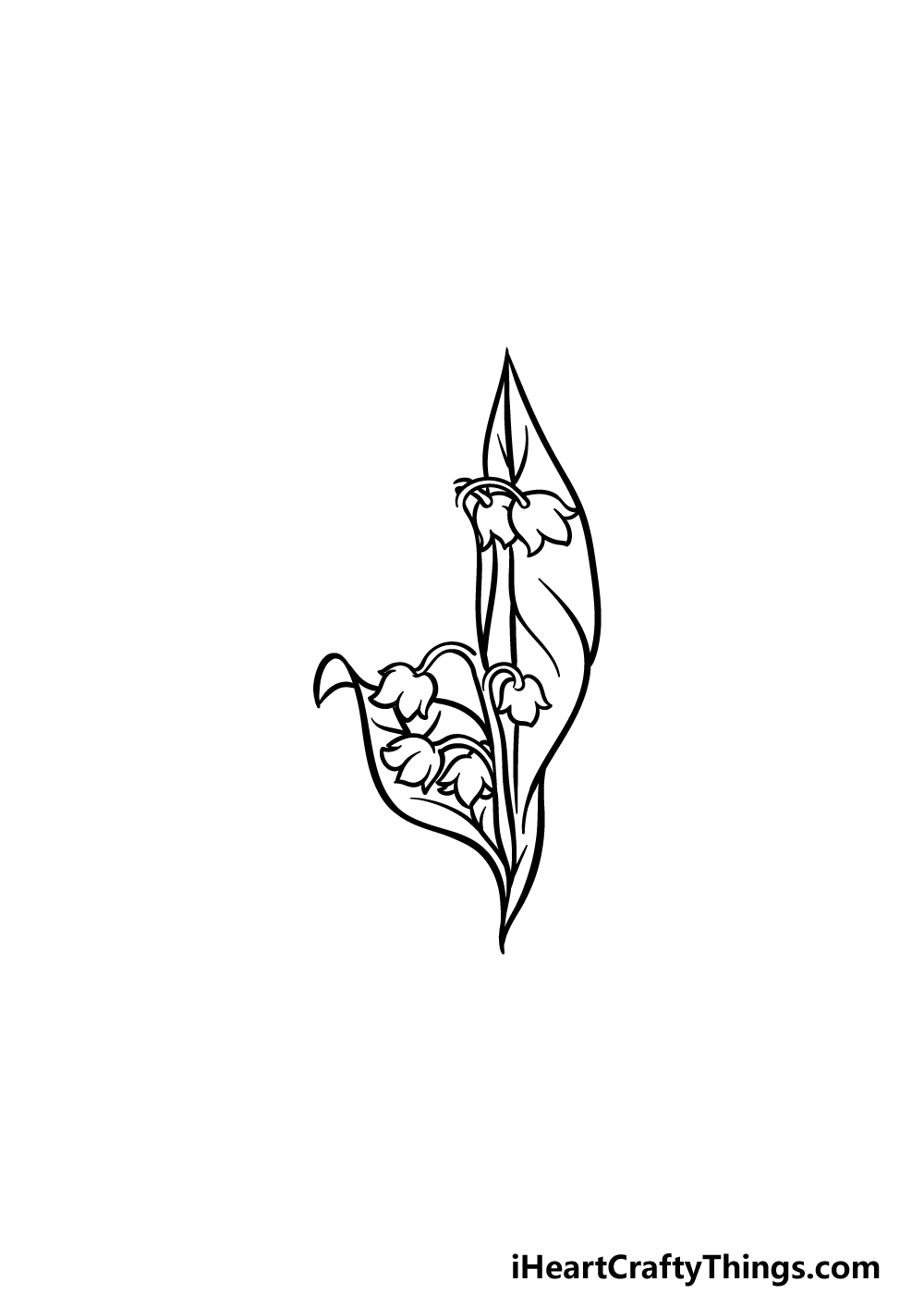 drawing lily of the valley step 3
