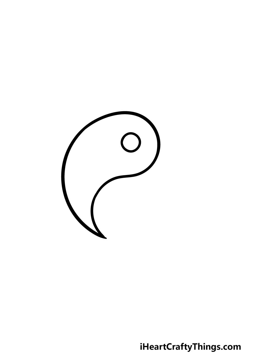 drawing Yin and Yang step 3