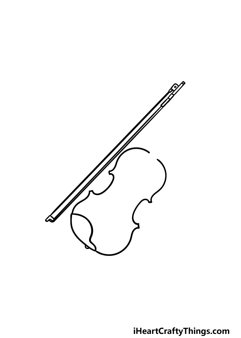 drawing a violin step 3