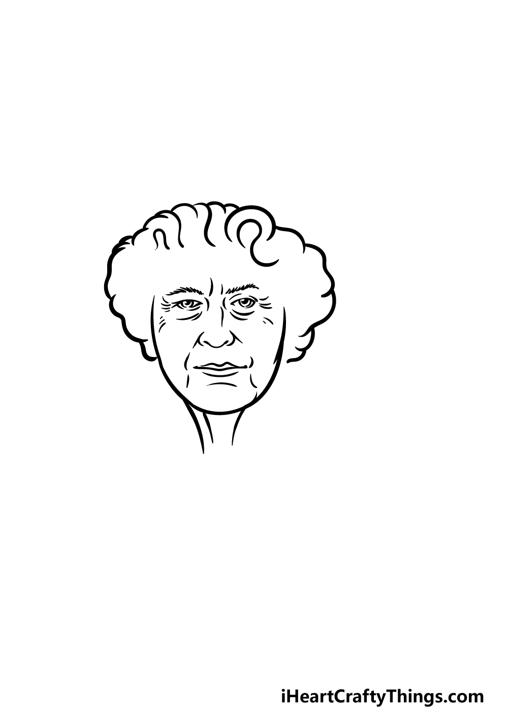 drawing the Queen step 3