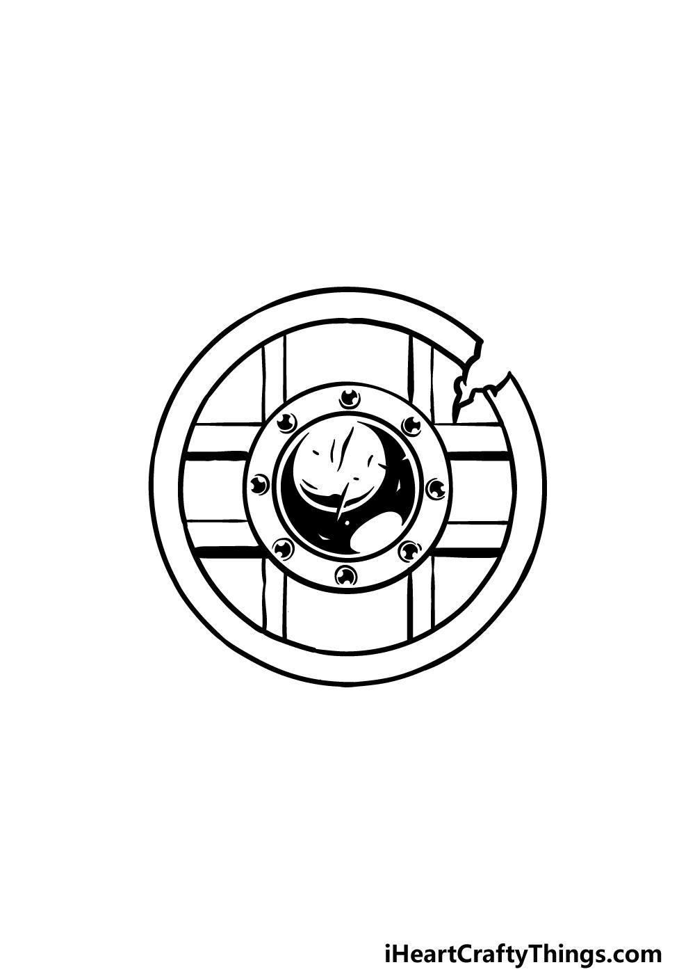 drawing a shield step 3
