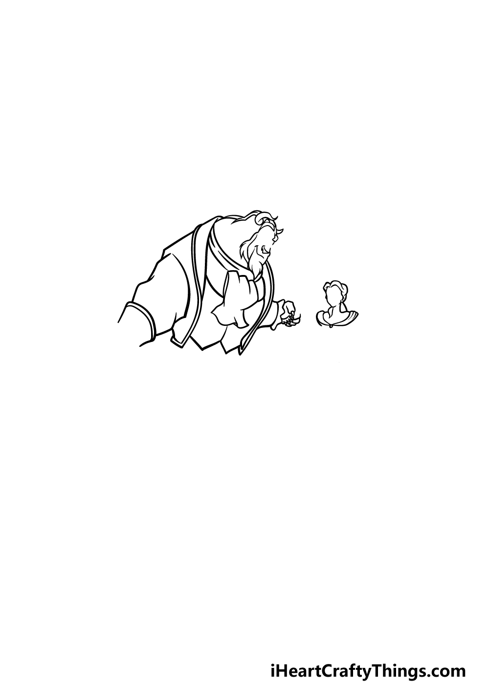 drawing Beauty and the Beast step 3