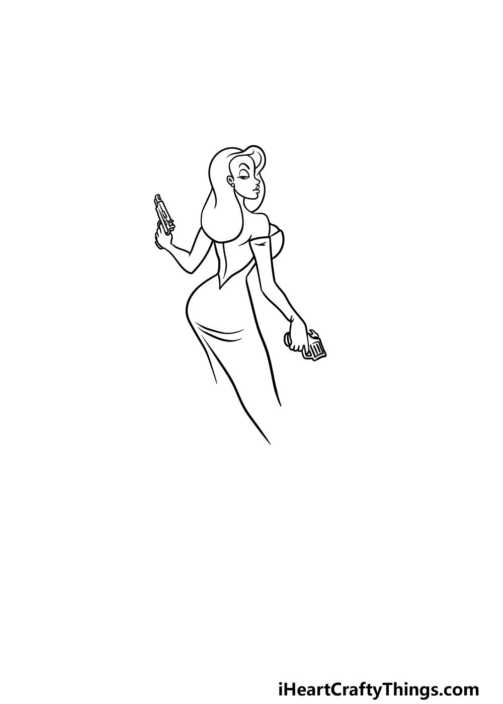 drawing Jessica Rabbit step 3
