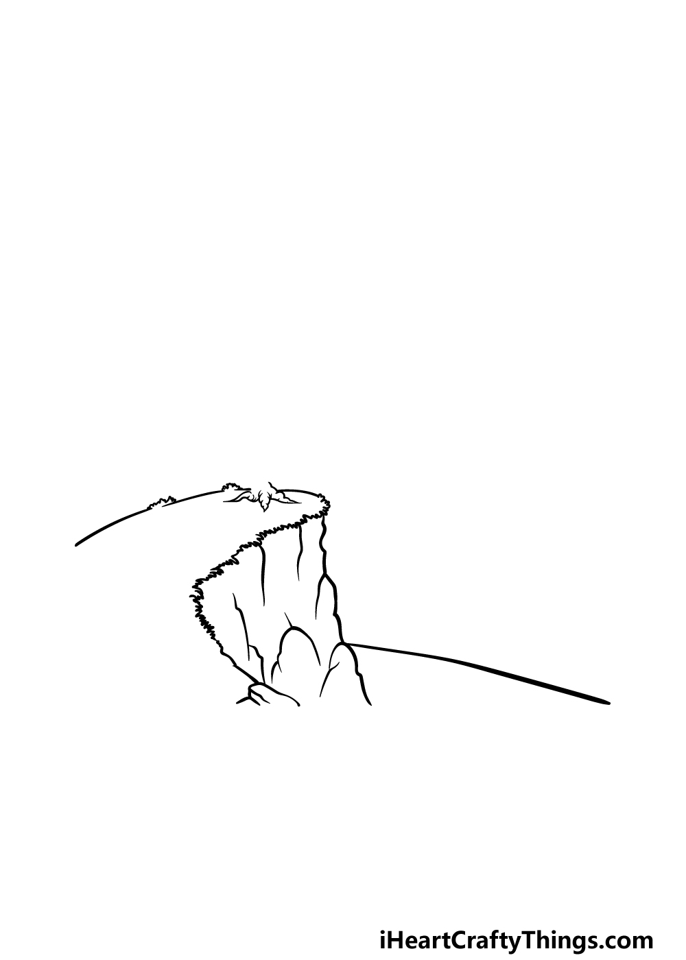 drawing a cliff step 3