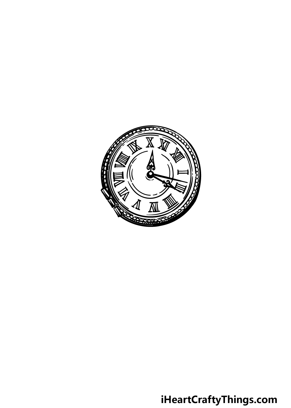 drawing a pocket watch step 3