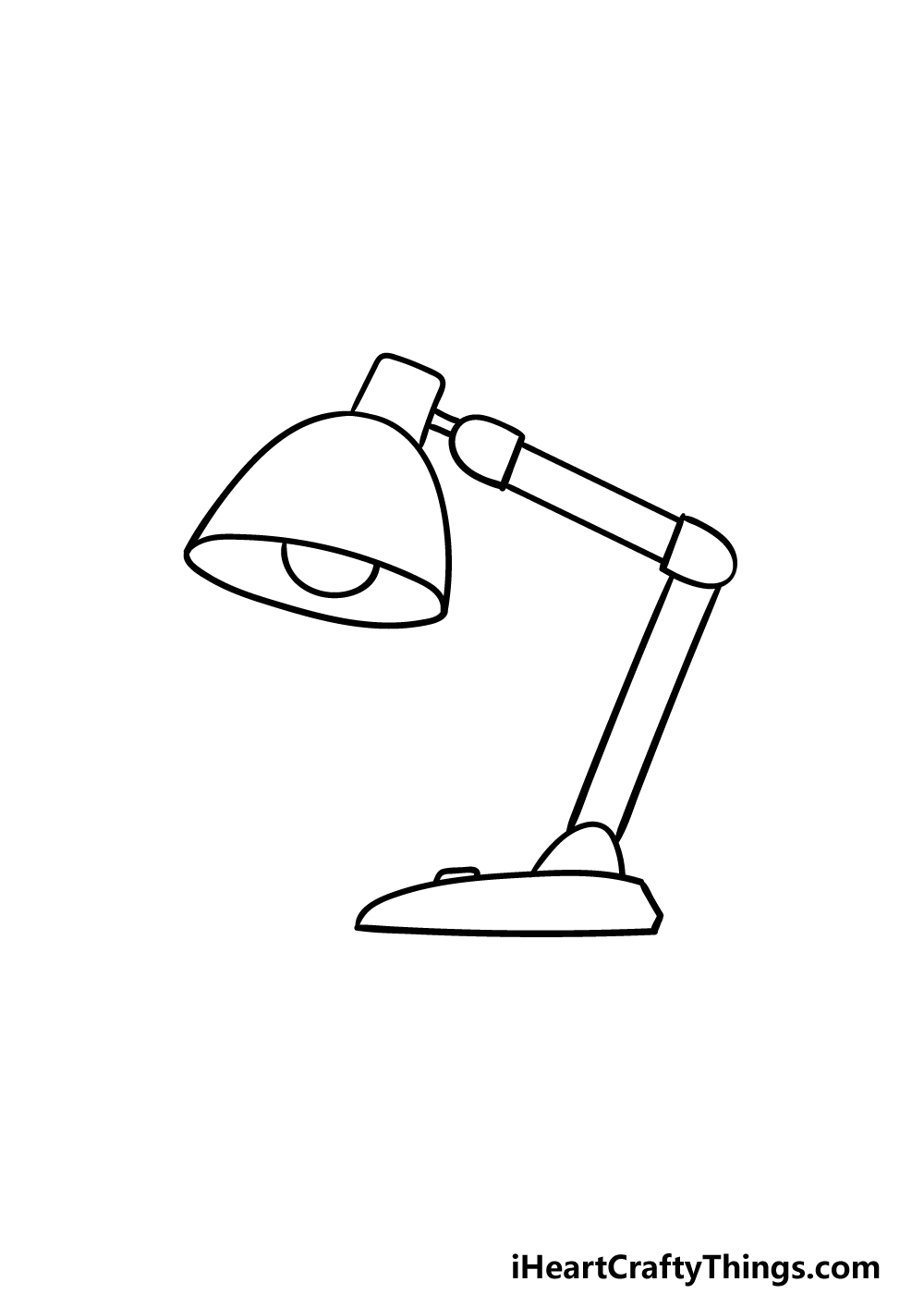 drawing a lamp step 3