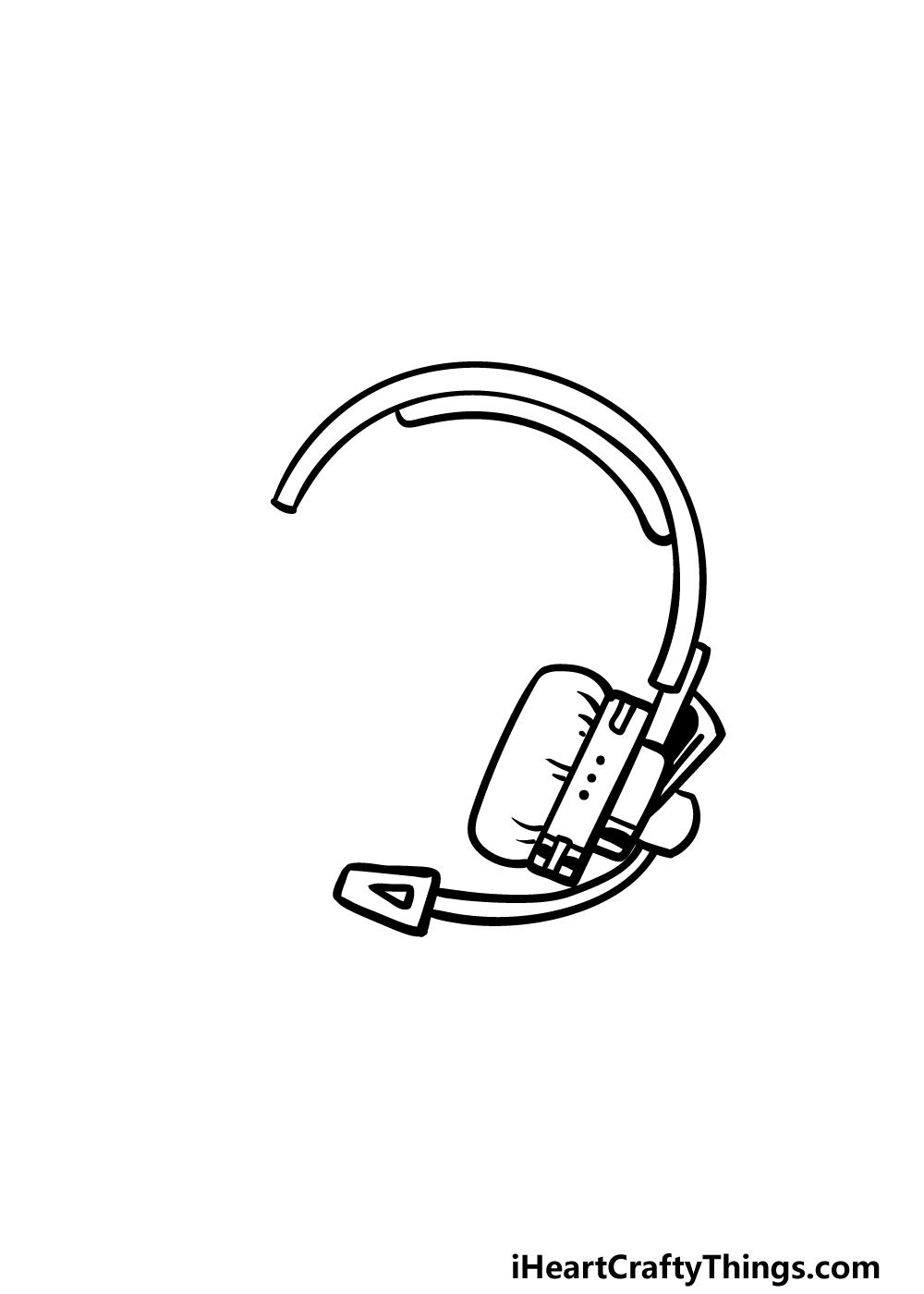 drawing headphones step 3