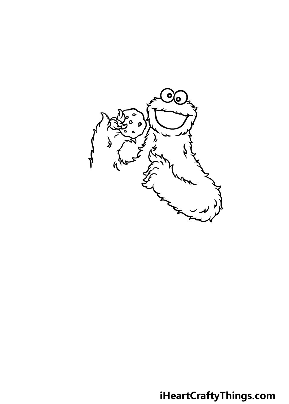 drawing a cookie monster step 3