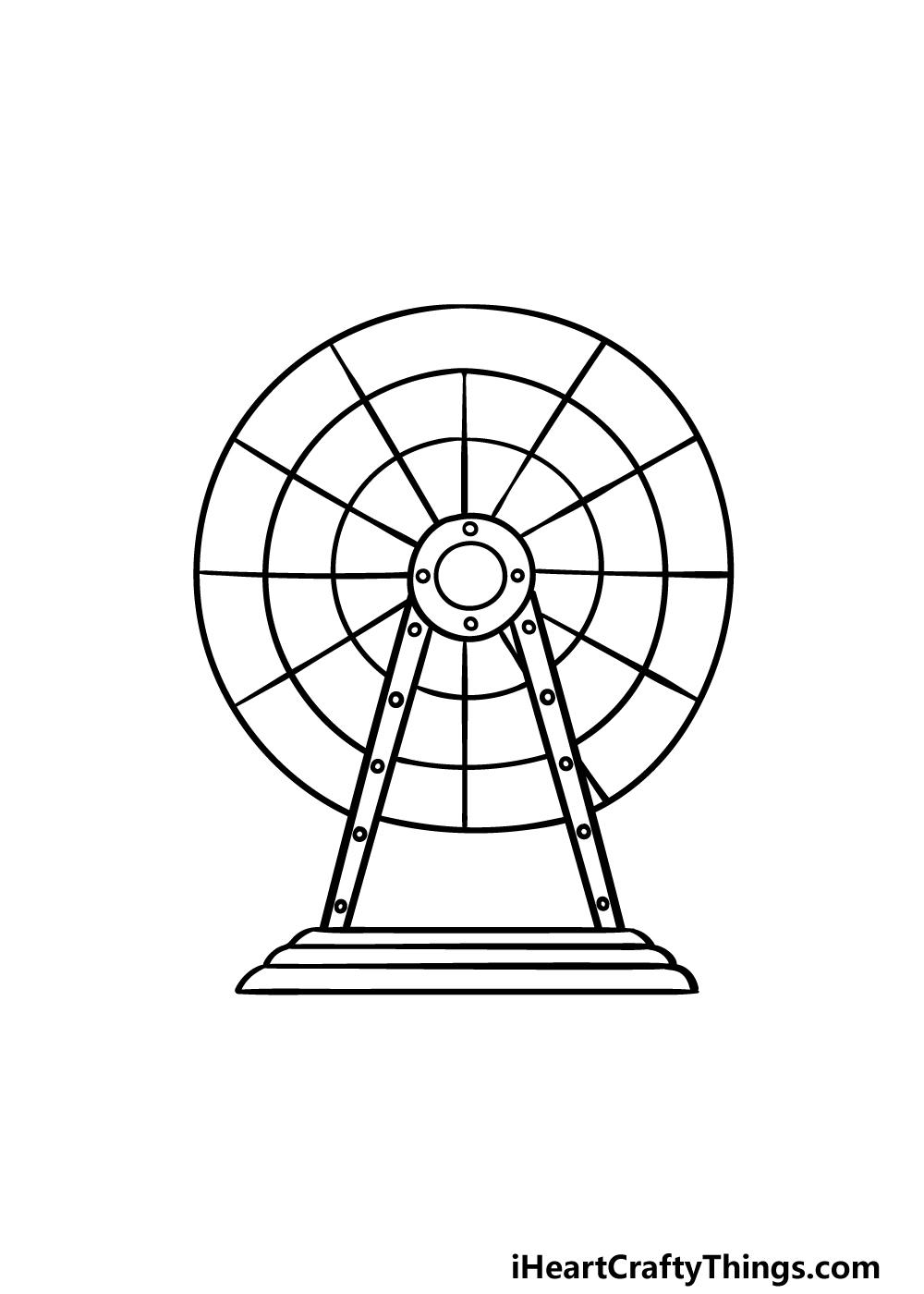 drawing Ferris Wheel step 3