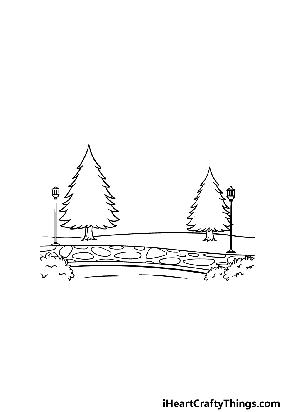 drawing a park step 3