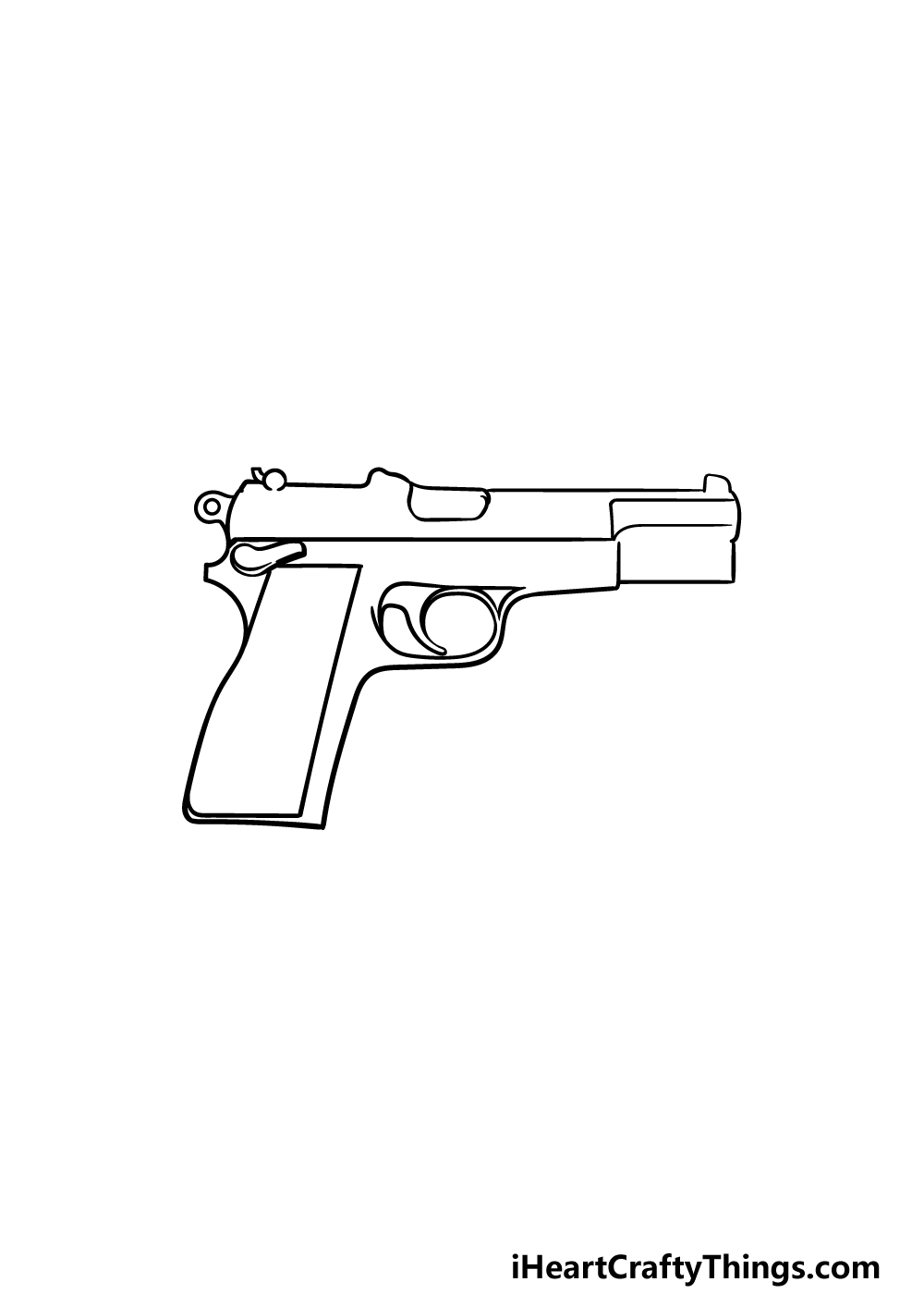 drawing a pistol step 3