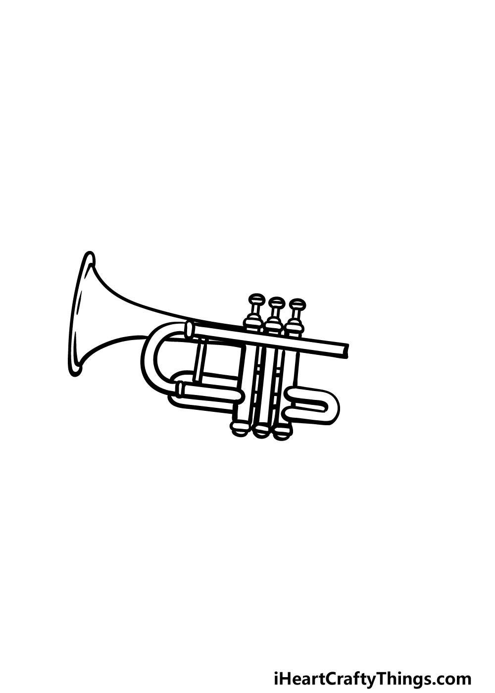 drawing a trumpet step 3