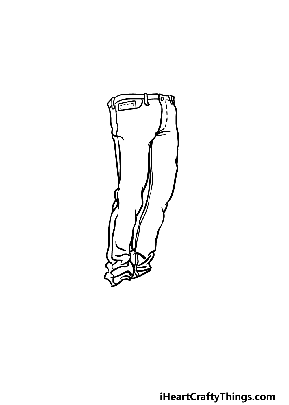 drawing jeans step 3