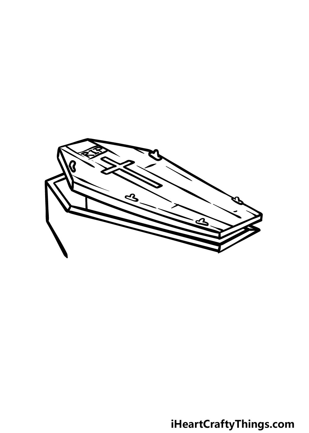 drawing a coffin step 3