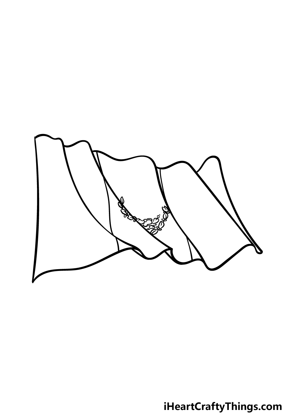 drawing Mexican flag step 4