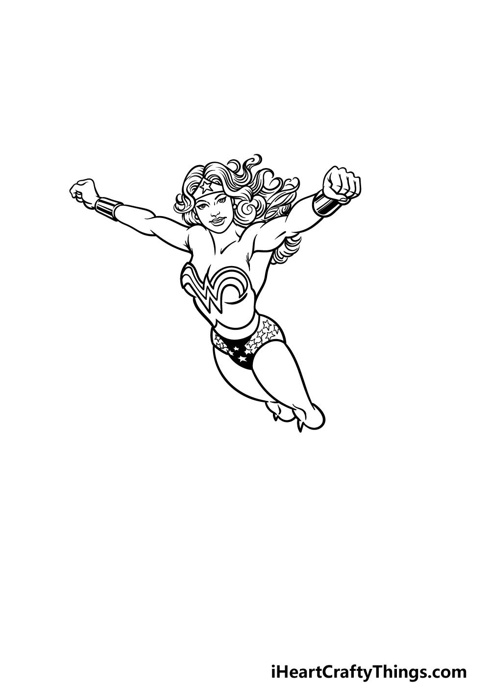 drawing Wonder Woman step 4
