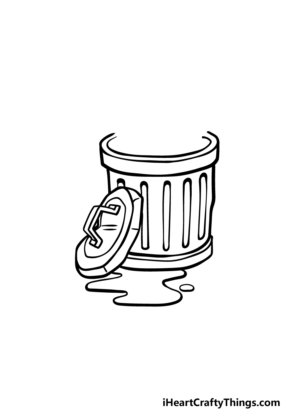 drawing a trash can step 4
