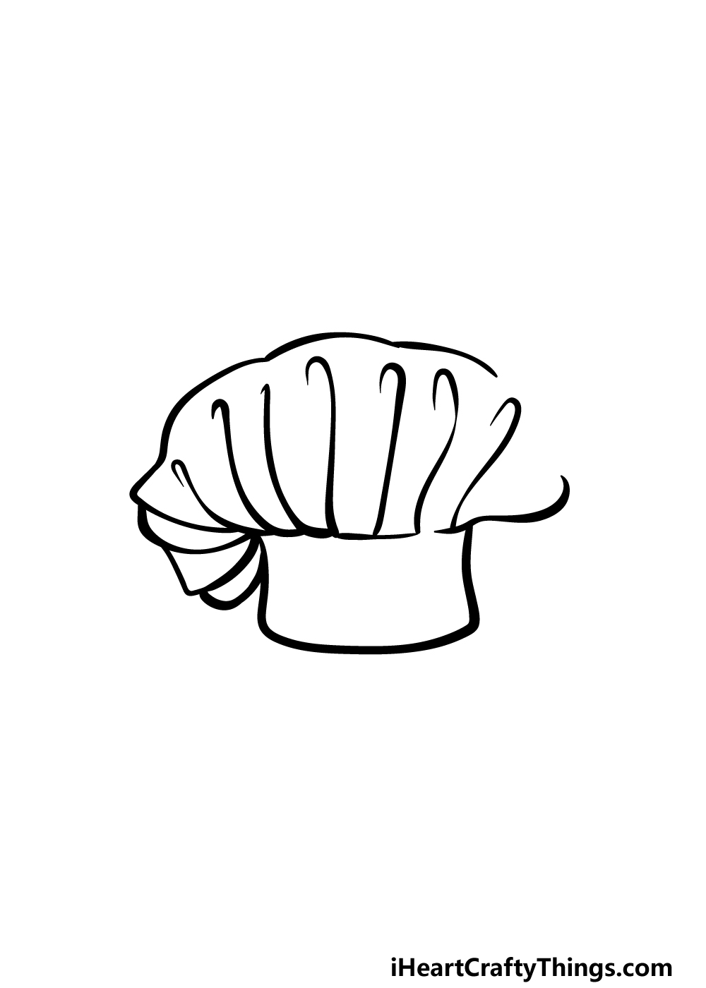 drawing chef's hat step 4