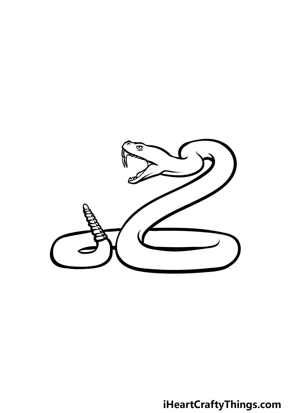 drawing a rattlesnake step 4