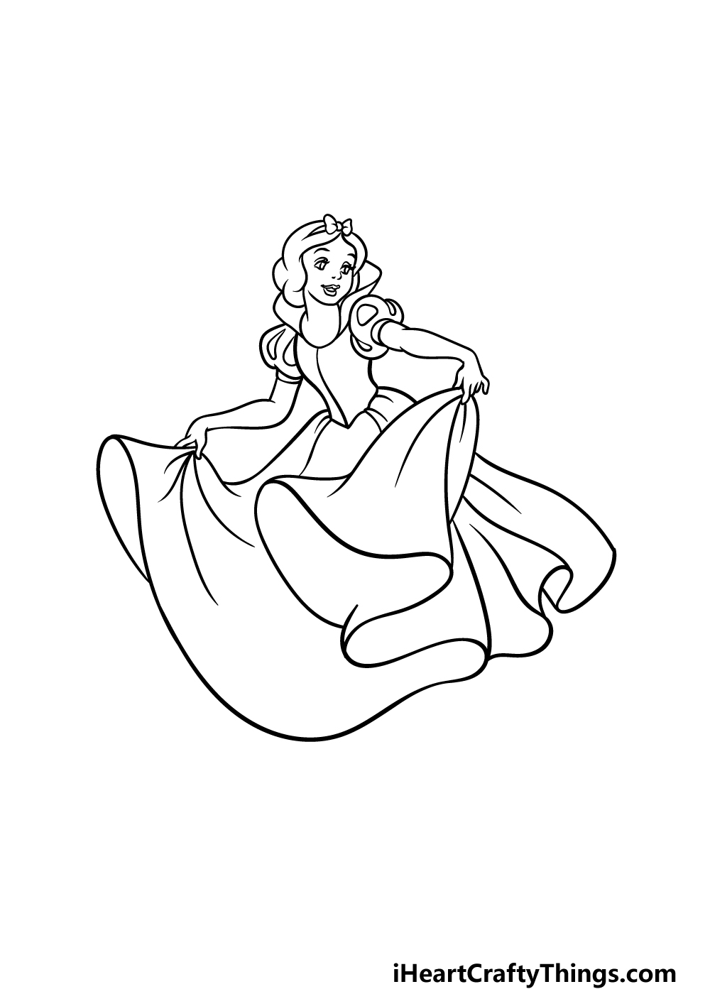 drawing Snow White step 4