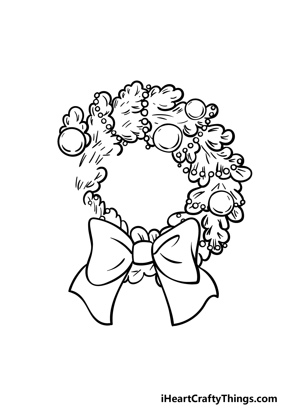 drawing a wreath step 4