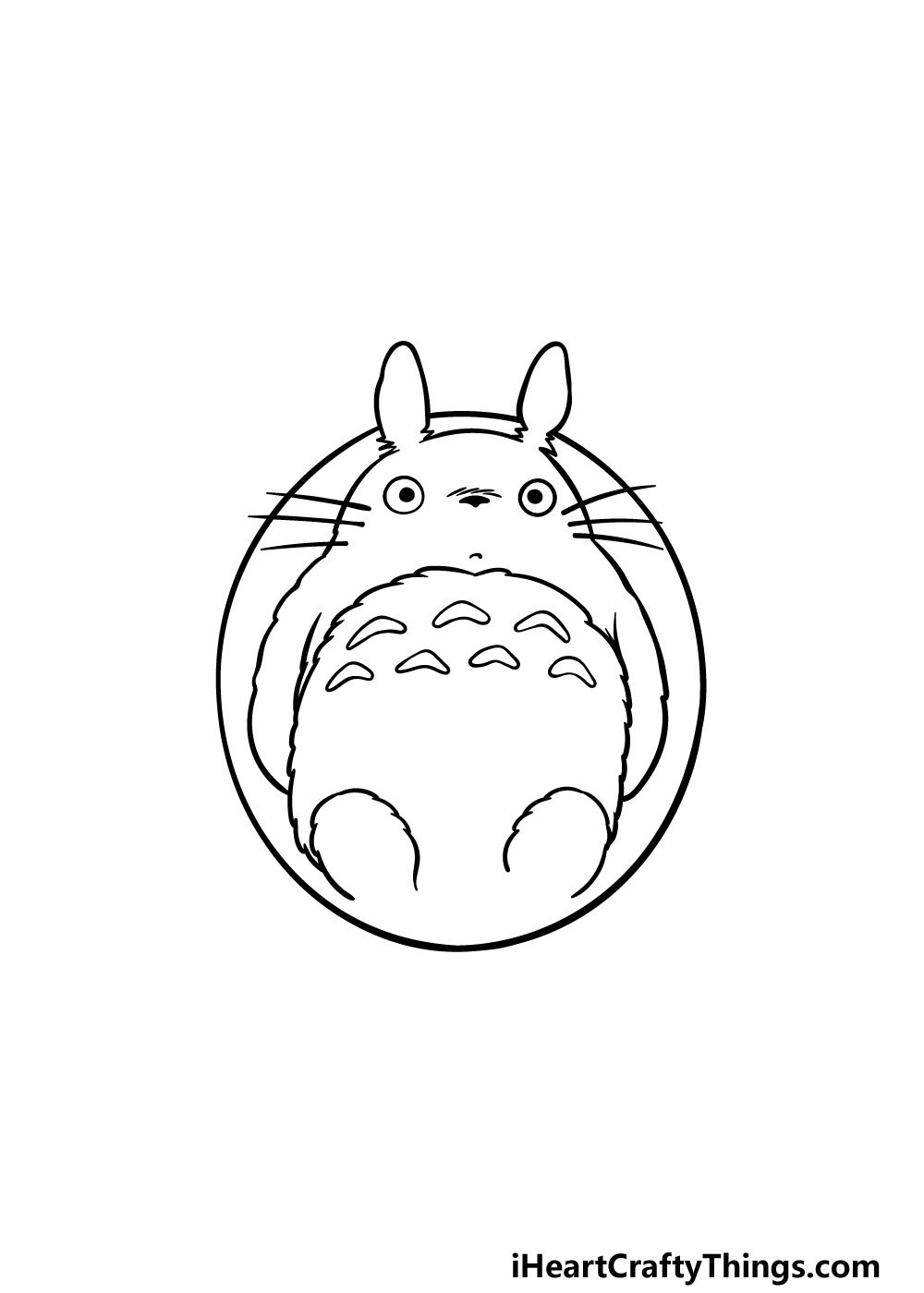 drawing Totoro step 4