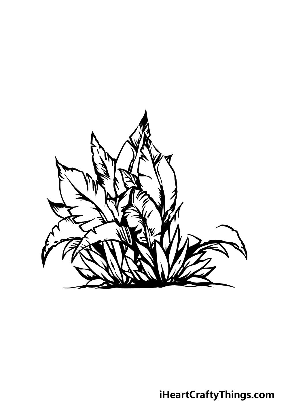 drawing a bush step 4
