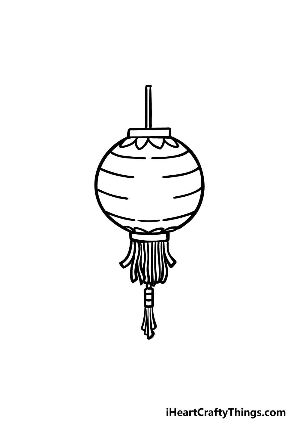 drawing a lantern step 4