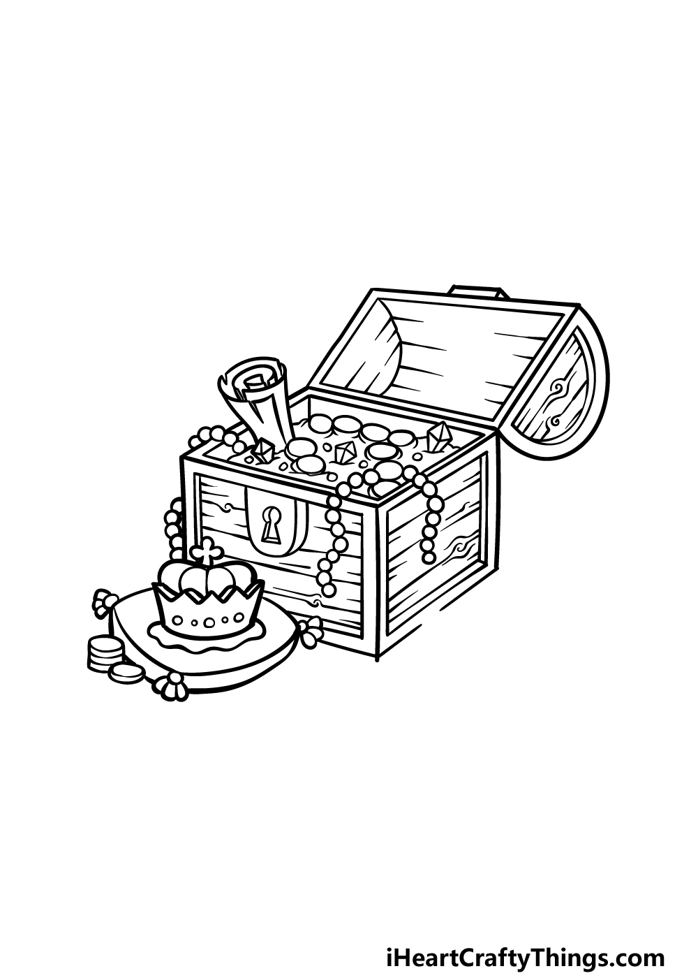 drawing a treasure chest step 4