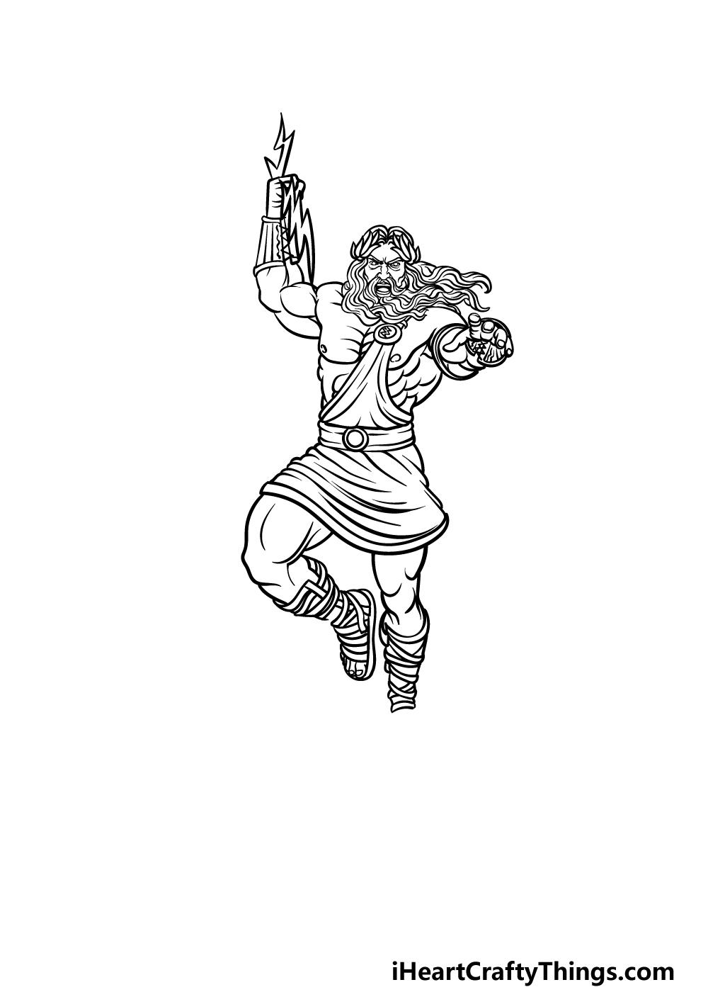 drawing Zeus step 4