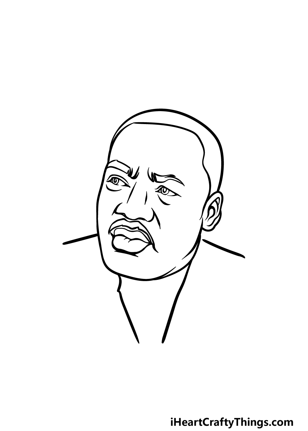 drawing Martin Luther King Jr. step 4