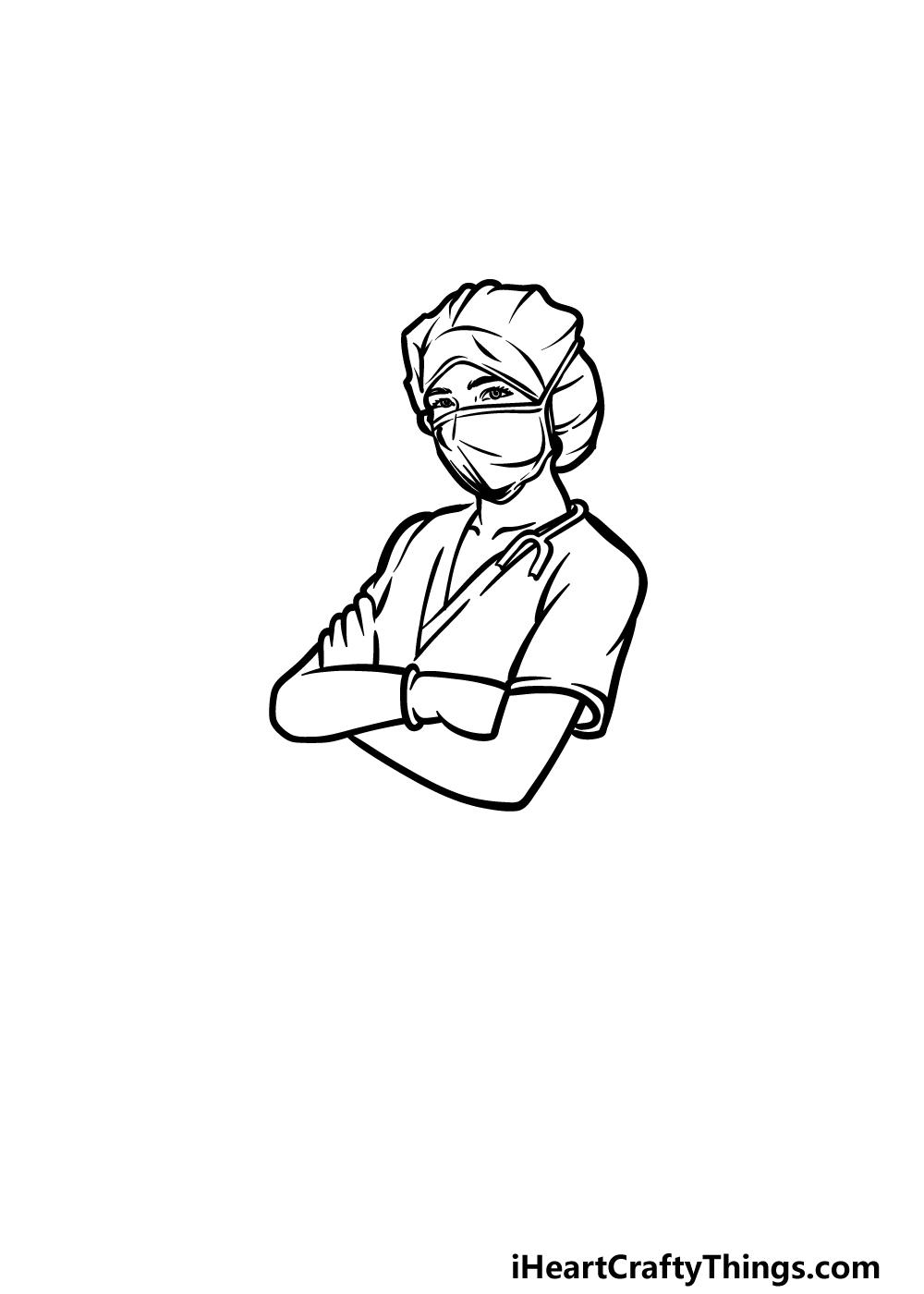 drawing a nurse step 4