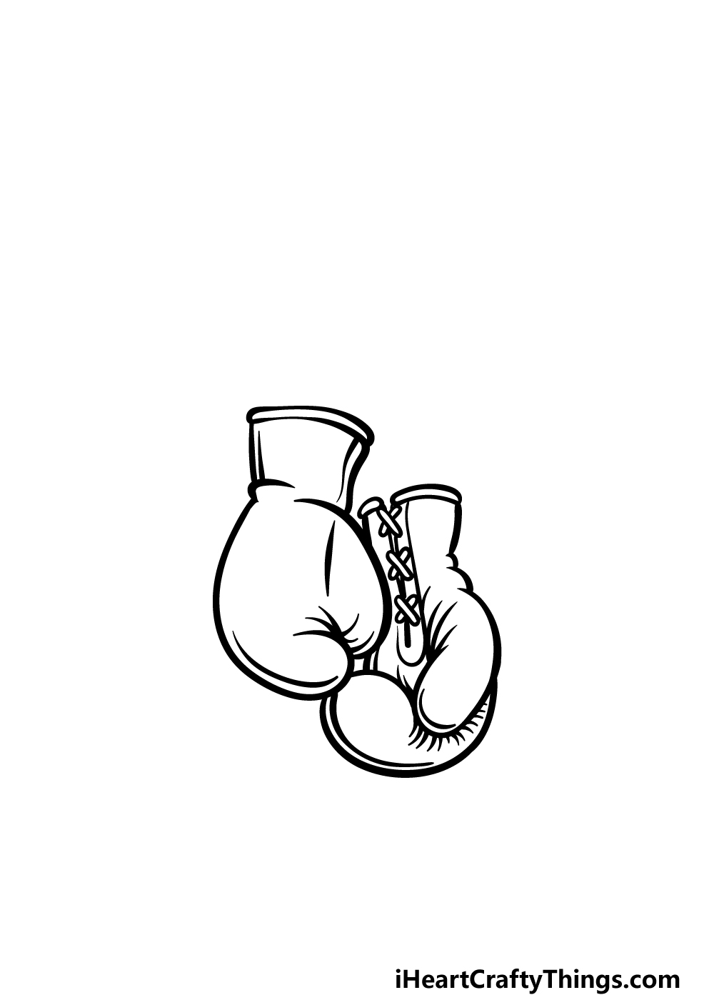 drawing boxing gloves step 4