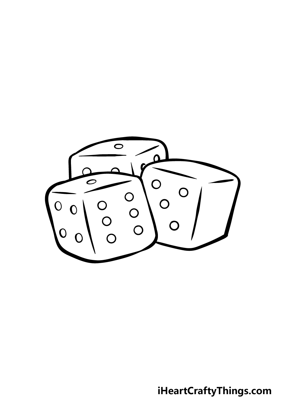 drawing the dice step 4