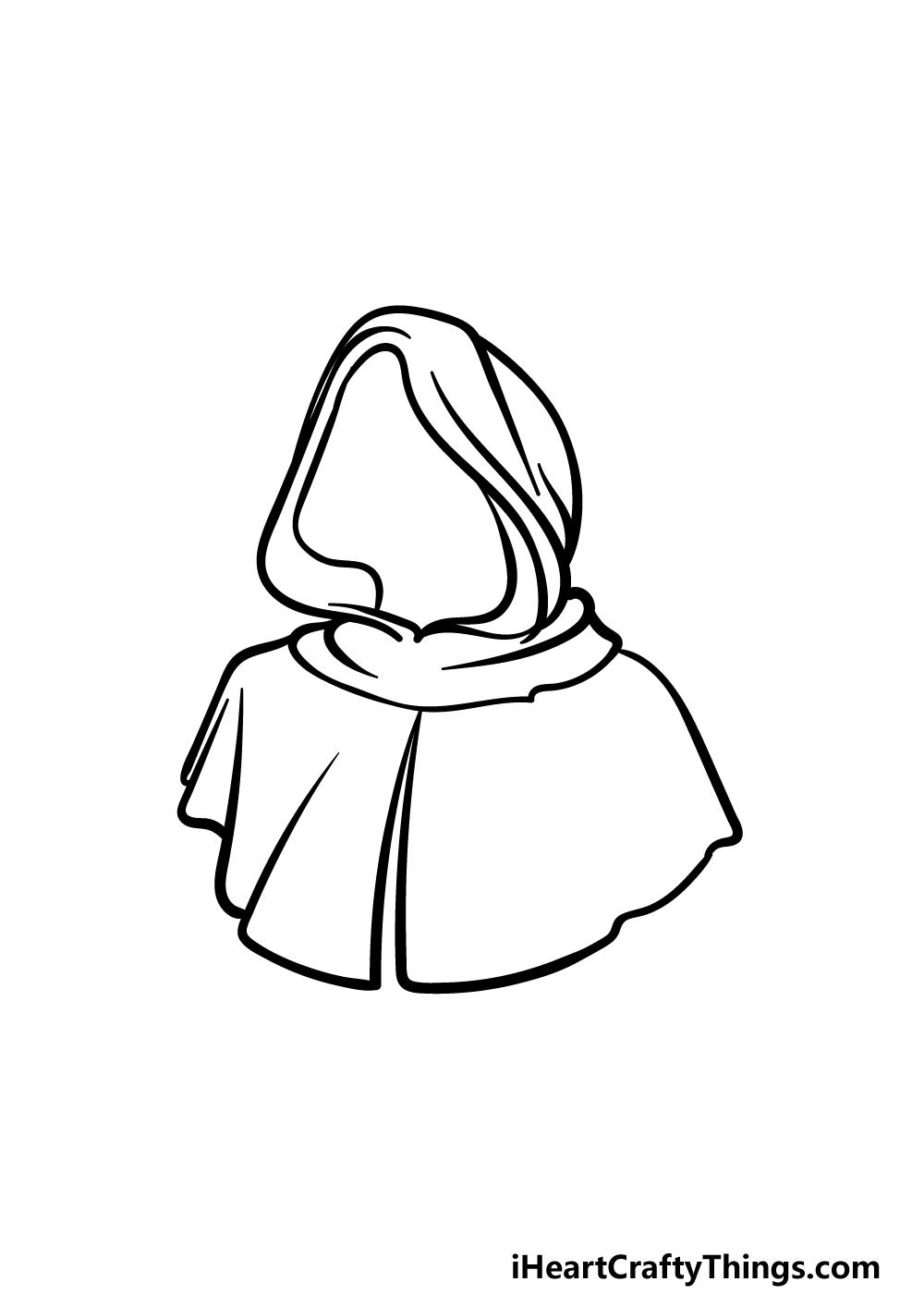 drawing a hood step 4