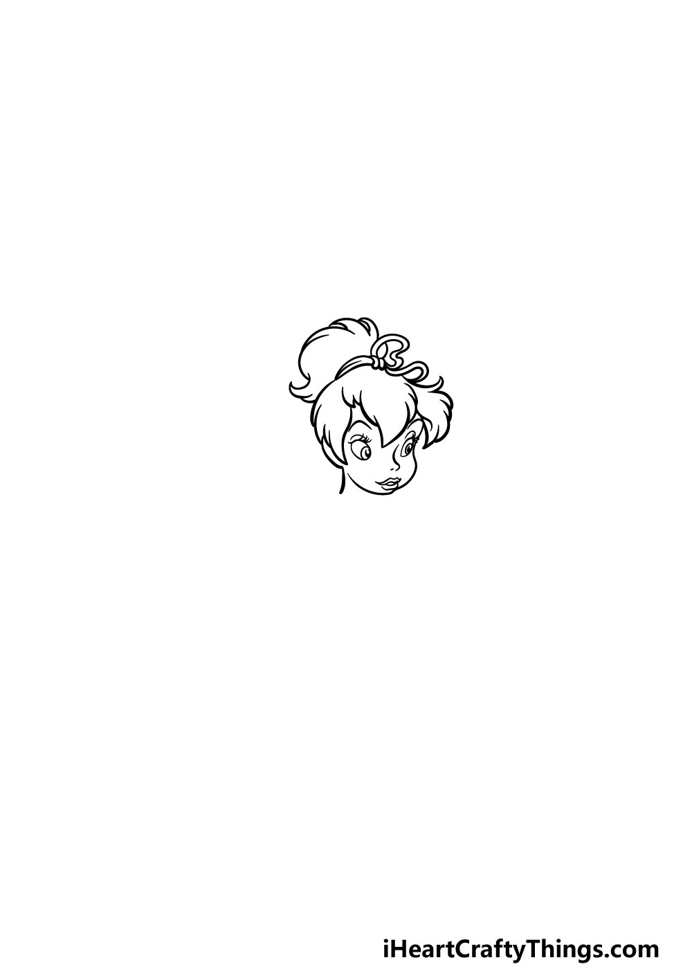 drawing Tinkerbell step 4