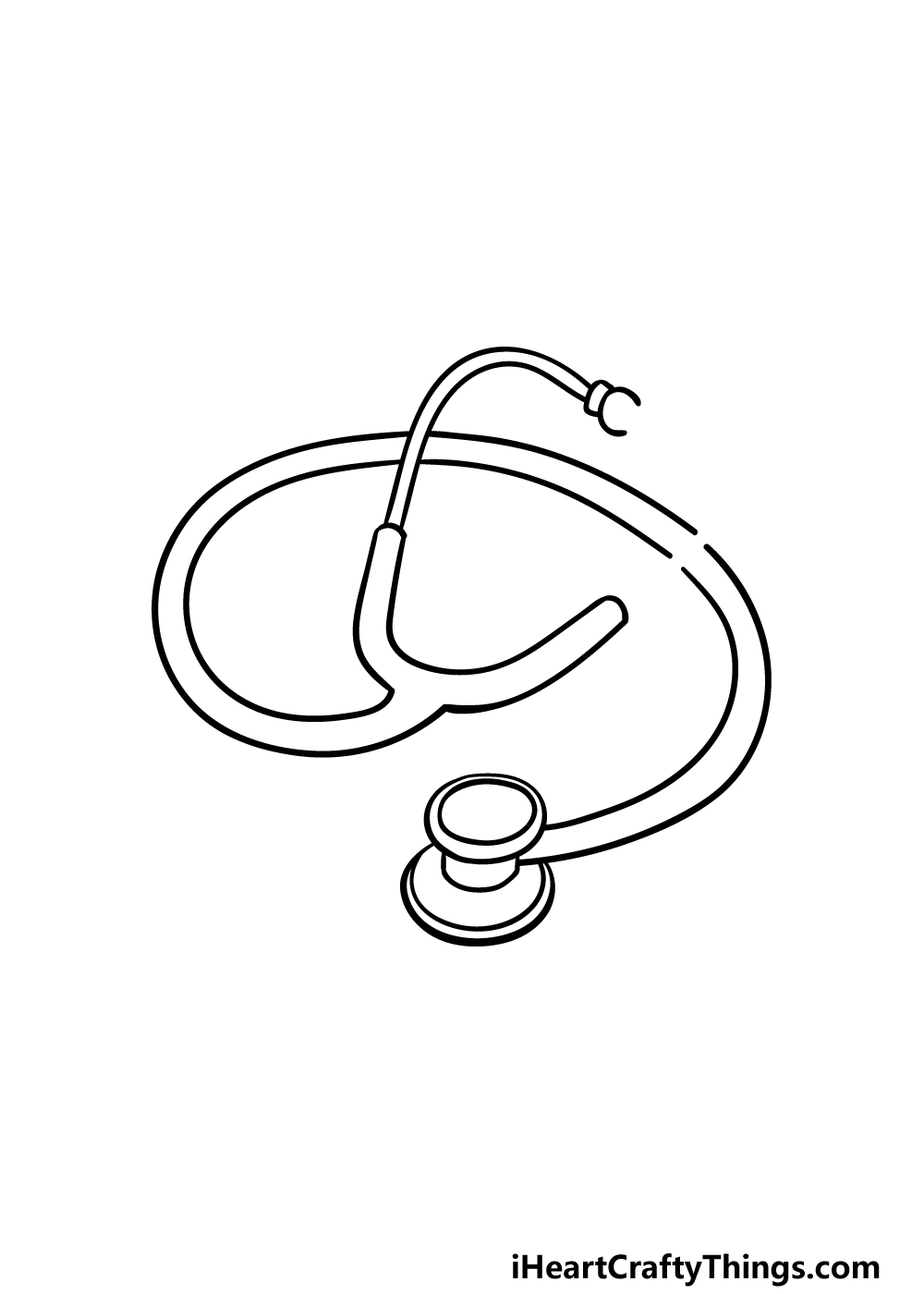 drawing stethoscope step 4