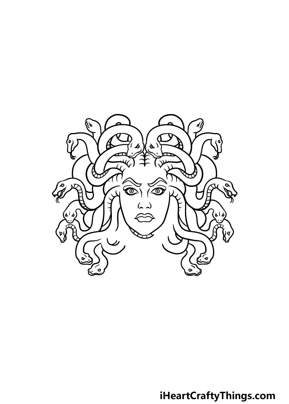 drawing Medusa step 4