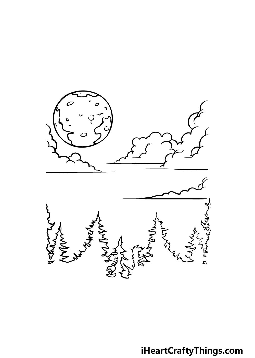 drawing sky step 4