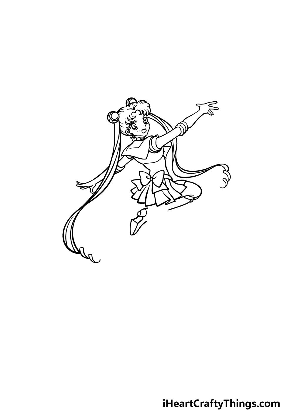 drawing Sailor Moon step 4